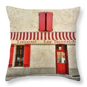 Restaurant In Provence Throw Pillow
