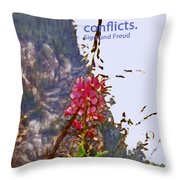 Restful Flowers Throw Pillow
