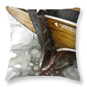 Resting In Ice Throw Pillow