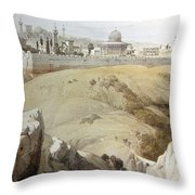 Resting Near Jerusalem Throw Pillow