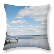 Resting Waters Throw Pillow