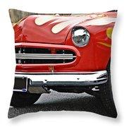 Restored Classic Car Throw Pillow