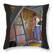 Restoring Art Throw Pillow