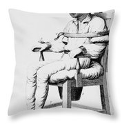Restraining Chair 1811 Throw Pillow