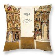 Retablo, 1816 Throw Pillow