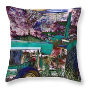Retired In Color Throw Pillow