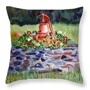 Retired Water Pump Throw Pillow