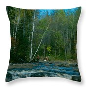 Retirement Is Time For Fishing Throw Pillow