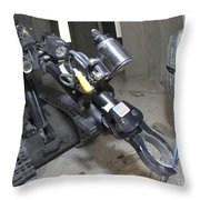 Retractable Arm Of Talon 3b Robot Throw Pillow by Stocktrek Images