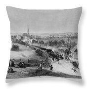 Retreat Of British From Concord Throw Pillow
