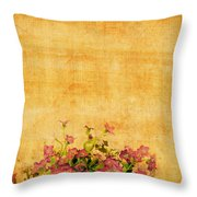 Retro Flower Pattern Throw Pillow