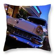 Retro Ford At Bob's Throw Pillow