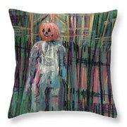 Return Of Pumpkinhead Man Throw Pillow
