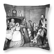 Returning Soldier, 1866 Throw Pillow