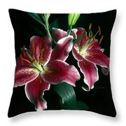 Reuben Lillies Throw Pillow
