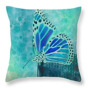 Reve De Papillon - S02a2 Throw Pillow by Variance Collections