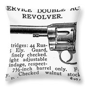 Revolver, 19th Century Throw Pillow