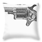 Revolver Ad, 1878 Throw Pillow