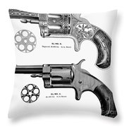 Revolvers, 19th Century Throw Pillow