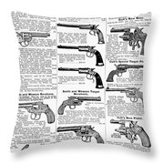 Revolvers And Pistols, 1895 Throw Pillow