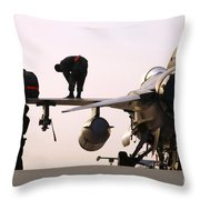 Rew Chiefs Prepare An F-16 Fighting Throw Pillow