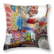 Rex Mardi Gras Parade IIi Throw Pillow