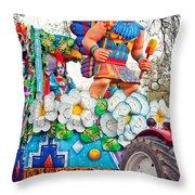 Rex Mardi Gras Parade V Throw Pillow