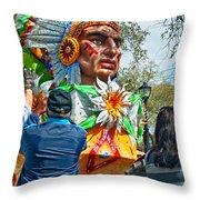 Rex Mardi Gras Parade Vii Throw Pillow