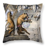 Reynard The Fox, 1846 Throw Pillow
