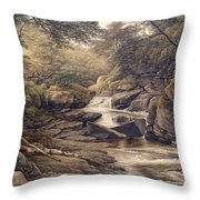 Rhiadr Ddu Near Maentwrog North Wales Throw Pillow