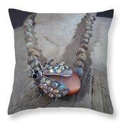 Rhinestone Lady Bug Throw Pillow