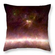 Rho Ophiuchi Nebula And Galactic Center Throw Pillow