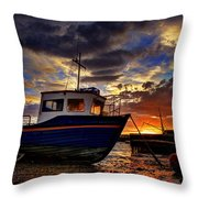Rhos Sunrise Throw Pillow