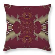 Ribbons To Claws Throw Pillow