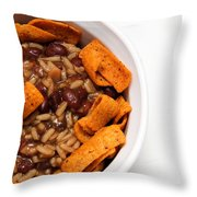 Rice And Beans With Chile Cheese Fritos Throw Pillow