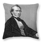 Richard Cobden (1804-1865). /nenglish Politician And Economist. Steel Engraving, English, 19th Century Throw Pillow