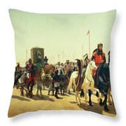 Richard Coeur De Lion On His Way To Jerusalem Throw Pillow