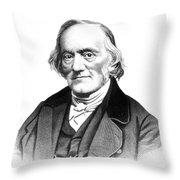 Richard Owen, English Paleontologist Throw Pillow