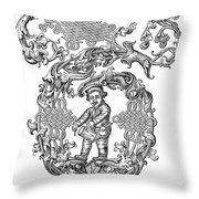 Richard Tarlton (1530-1588) Throw Pillow