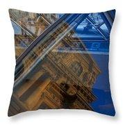 Richelieu Wing Of The Louvre Throw Pillow