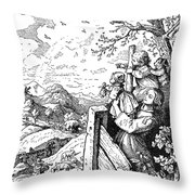 Richter Illustration Throw Pillow