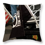 Ride For Hero's Throw Pillow