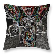 Ride Like The Devil Throw Pillow