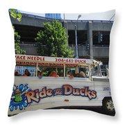 Ride The Ducks Throw Pillow