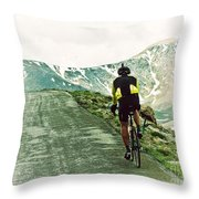 Ride The Rockies Throw Pillow