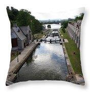 Rideau Canal And Locks - Ottawa Throw Pillow