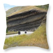 Riders In The Cut Throw Pillow