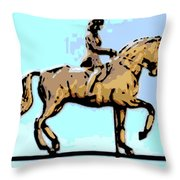 Riding Copper Throw Pillow