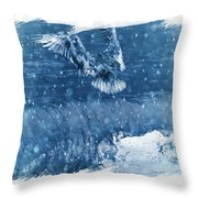 Riding The Wave The Gull Throw Pillow