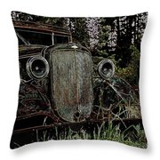 Riding Ysteryear Throw Pillow
